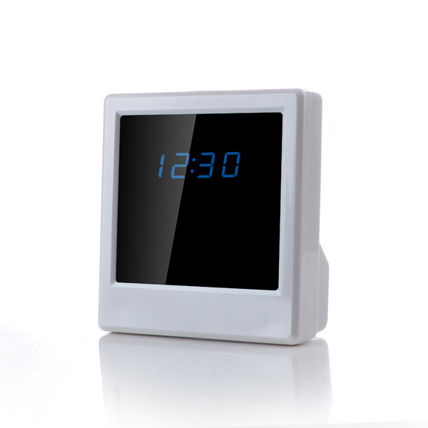 HS01 P2P Wifi Pinhole Hidden Alarm Clock Camera Mini Clock H.264 Spy Camera