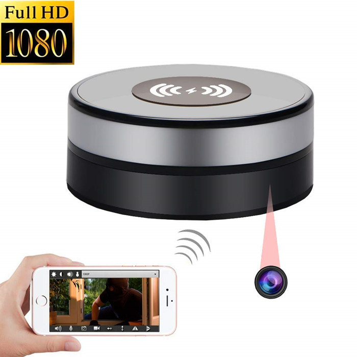 Y18 Fast Wireless Charger Camera Phone Charging Pad Hidden Camera Charger